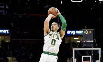 970bf38b Jayson Tatum and the Celtics advance after picking up their 44th win. Photo