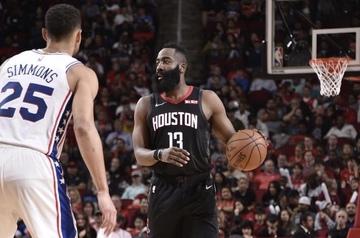 e371683e4b6 Rockets clobber Sixers to extend win streak to 7