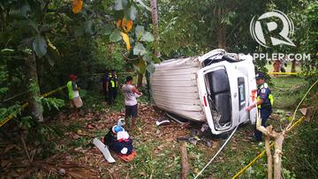 3 call center employees killed in van crash in Camiguin