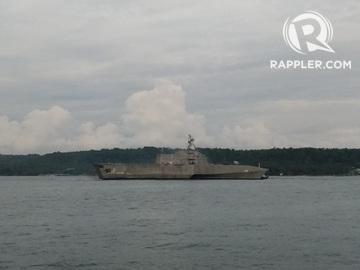 LOOK: U S  Navy combat ship USS Montgomery makes Davao City port visit