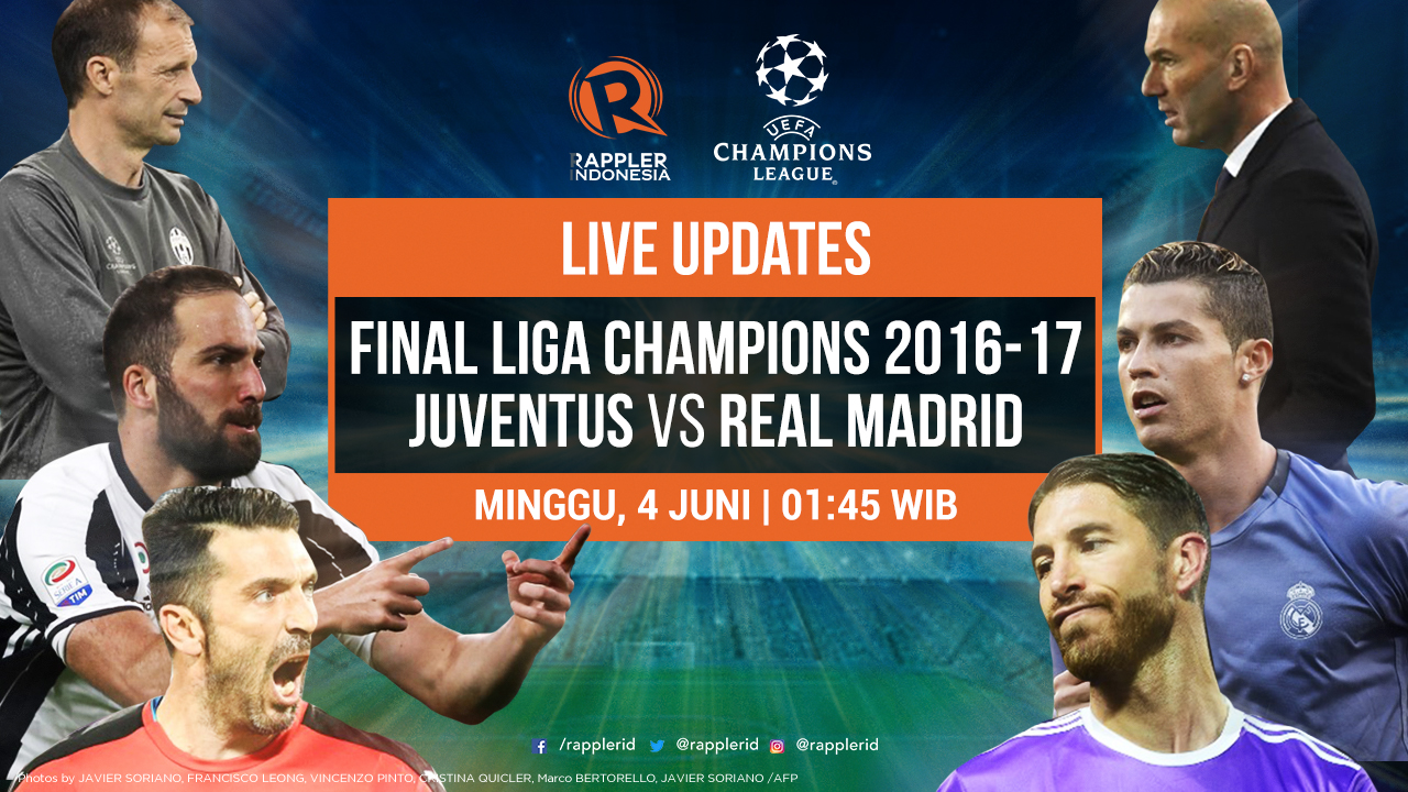 LIVE UPDATES: UCL Final - Juventus vs Real Madrid
