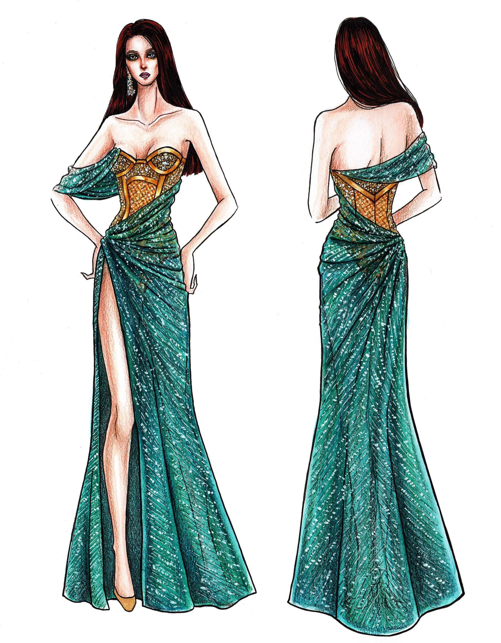 LOOK Mak Tumang Unveils Catriona Grayu0026#39;s 3rd Gown For Miss Universe