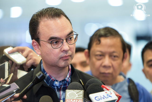 SILENCE. The Philippine Department of Foreign Affairs, under Secretary Alan Peter Cayetano, has not issued a statement on China's bombers in the South China Sea as of May 20, 2018. File photo by LeAnne Jazul/Rappler