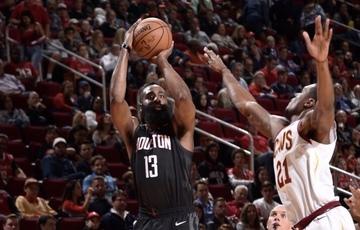 63d9254d683 Harden drops triple-double as Rockets rout Cavs