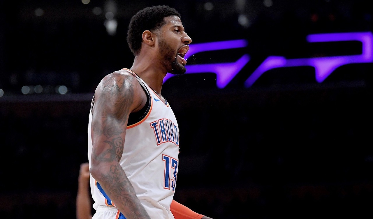 698b381d0c4a Paul George ignores boo boys as Thunder sink Lakers