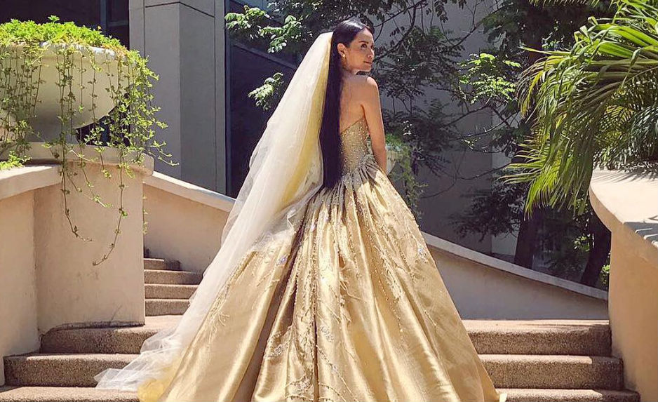 IN PHOTOS: Divine Lee\'s golden wedding gown