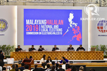 2019 polls the commission on elections convenes as the national board of canvassers at the