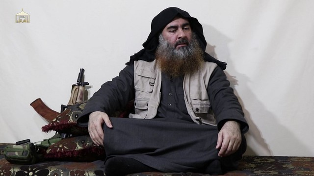 ISIS CHIEF. In this undated and unlocated tv grab taken from a video released by Al-Furqan media, the chief of the Islamic State group Abu Bakr al-Baghdadi appears for the first time in 5 years in a propaganda video. AFP PHOTO / SOURCE / AL-FURQAN