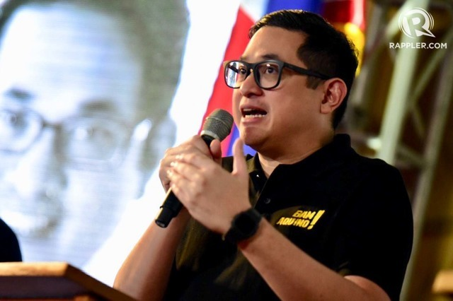 BELIEVE A SCAMMER? Senator Paolo Benigno Aquino IV rejects a scammer's claim that he hired him to conduct a social media 'demolition job' against Senator Bong Go. File  photo