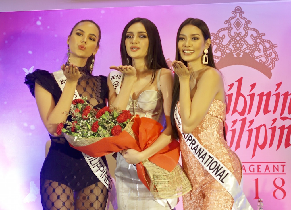 SQUAD GOALS. Ahtisa is joined by her fellow BB. Pilipinas Queens, Catriona Gray and Jehza Huelar. Photo by Voltaire Tayag