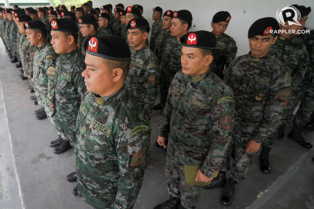 ROBBED? PNP Special Action Force commandos haven't been receiving their subsistence allowances for months. Rappler file photo