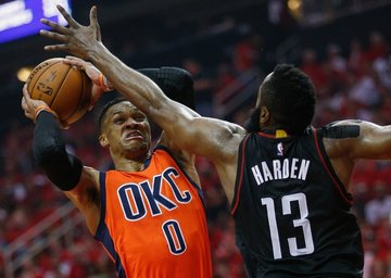 4c79cbb1 The Houston power pairing of Russell Westbrook and James Harden unites the  NBA's