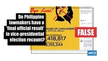 FALSE: National Board of Canvassers has final official result in