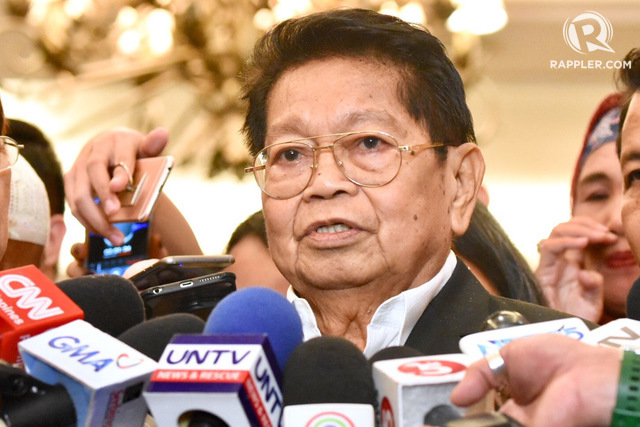 MISSION ACCOMPLISHED. Ghazali Jaafar died on March 13, 2019, more than two weeks after members of the Bangsamoro Transition Authority took their oath of office in Malacañang. File photo by Angie de Silva/Rappler