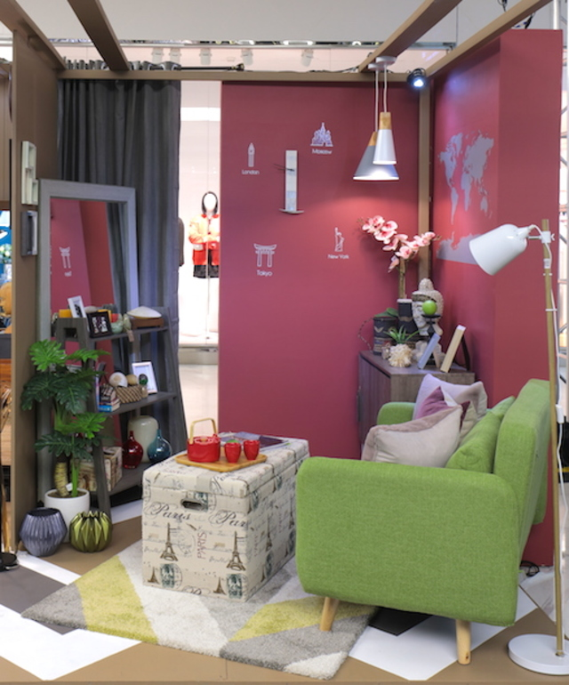 SMALL CORNER. This tiny 8x6 space is the living room that Ivy worked with. Photo courtesy of SM Home
