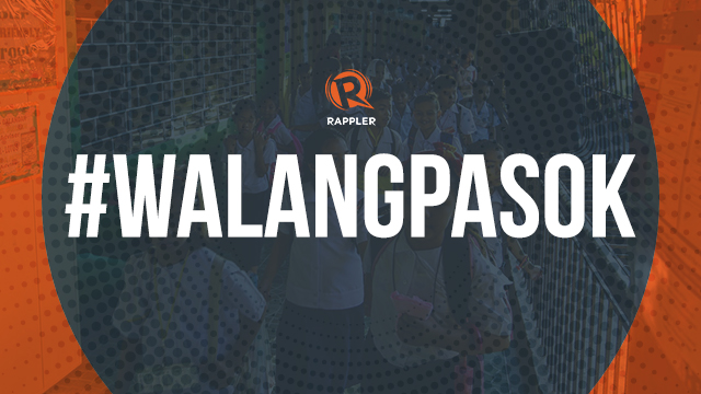 Walangpasok Class Suspensions For January 3 4