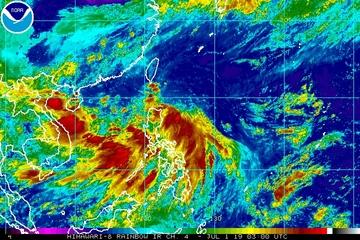 Tropical Depression Egay barely moving, still enhancing monsoon