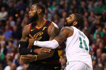 best authentic 425fb b8efc Kyrie Irving not closing door on LeBron James reunion in Boston
