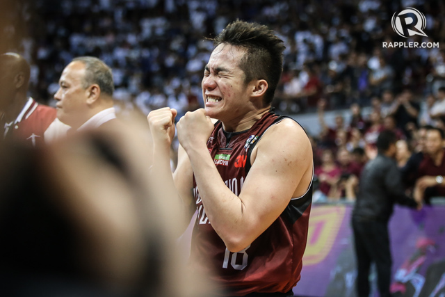 18fa4d737d3 CLUTCH UP team captain Paul Desiderio again wills the Maroons to victory  Photo by Josh AlbeldaRappler