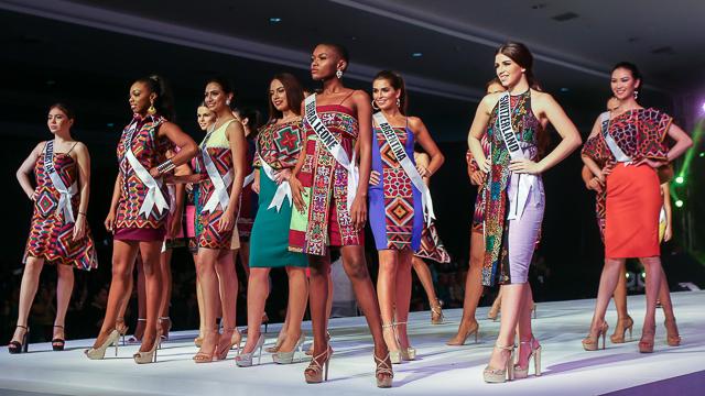 IN PHOTOS: Miss Universe 2016 ladies shine in Mindanao fabrics