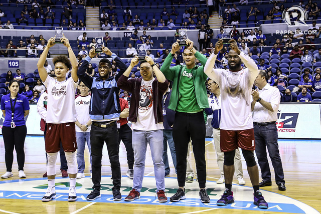 3dab31953b1 BEST FIVE UPs Bright Akhuetie right leads the Mythical Team composed of  from left teammate Juan