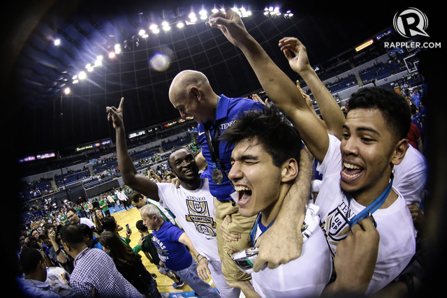 UNFAZED. M.V.P. never really doubted the Blue Eagles since day one. Photo by Josh Albelda/Rappler