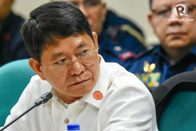 WARNING. Interior and Local Government Secretary Eduardo Año attends a Senate hearing on proposed amendments to the anti-terrorism law, October 1, 2018. File photo by Angie de Silva/Rappler