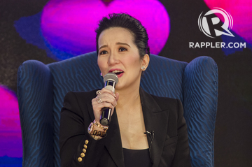 KRIS AQUINO The lead actress for MMFF entry Kampon took to Instagram to express her dismay at the film supposedly not pushing through File photo by Rob ReyesRappler