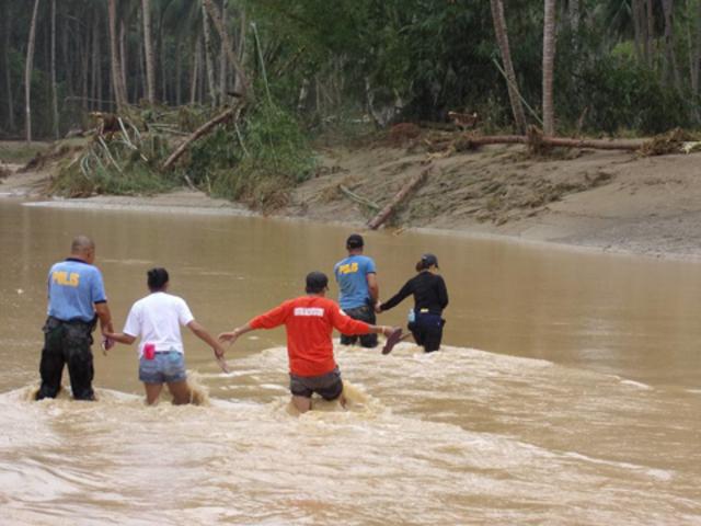 MASSIVE FLOODING. Rivers overflow in Zamboanga Peninsula. Photo courtesy of PNP in Zamboanga City