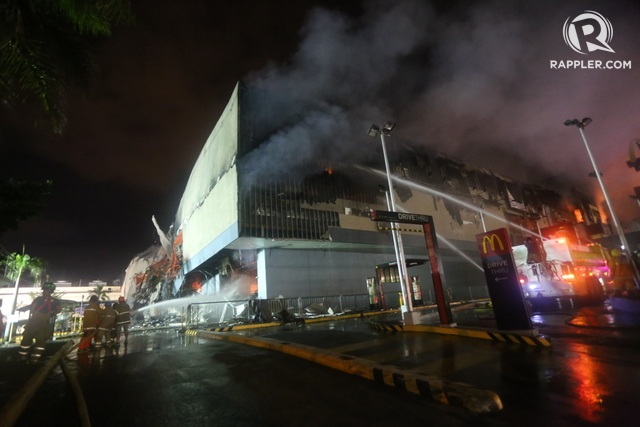 MALL FIRE. Around 2,000 workers are affected and 38 workers have died in the fire that hit the NCCC Mall in Davao City.