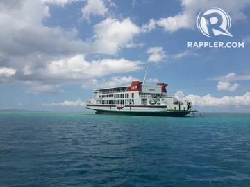 RORO vessel runs aground in marine protected area in Albay