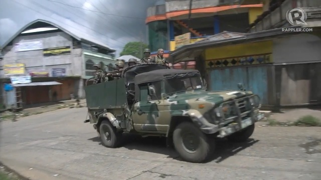 MILITARY OPERATIONS. The Armed Forces of the Philippines continues operations against terrorists in Marawi City, Lanao del Sur.