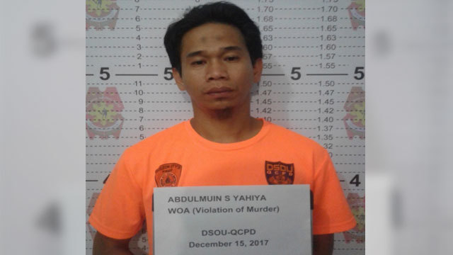 SUSPECTED TERRORIST. QCPD cops nab suspected Abu Sayyaf Group member. QCPD photo