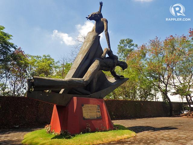 INANG BAYAN. The landmark monument symbolizing freedom and sacrifice at the Bantayog ng mga Bayani