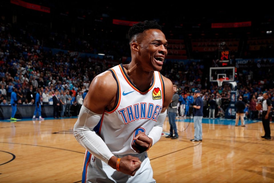 2515f64df319 HISTORIC. Russell Westbrook joins the legendary Wilt Chamberlain in the  record books. Photo from