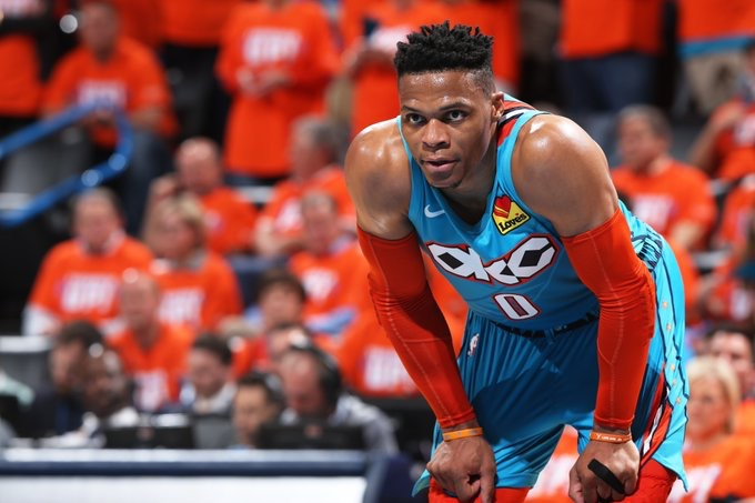 403ea38e3d5c EXPLOSIVE. Russell Westbrook puts the Thunder back in the series with the  Blazers. Photo