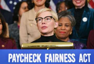 64862c90943 Actress Michelle Williams speaks at an event to celebrate the Paycheck  Fairness Act