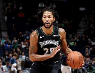 c06662dfdf7 Another injury sidelines Timberwolves star Derrick Rose. Photo from NBA  Twitter