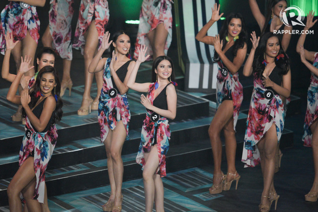 INTRO. The 40 candidates during the opening of the Bb Pilipinas pageant. Photo by Rappler