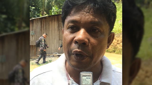DEAD. Barangay Mabato Chief Sunny Caldera in an interview with local media on July 19, 2019, a day after the ambush of 4 policemen in Ayungon town, Negros Oriental. Contributed Photo