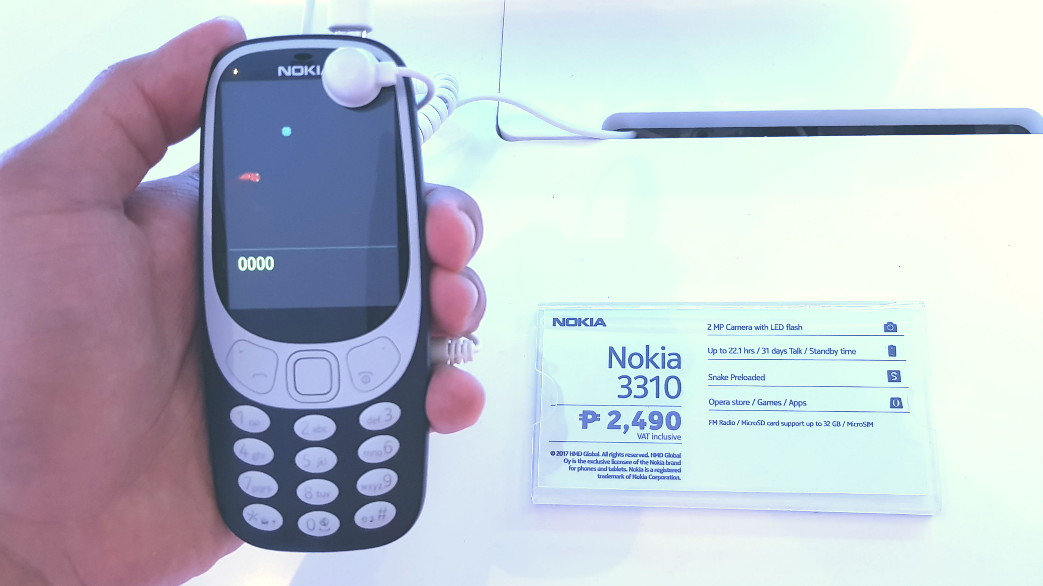 The new phones arrive by the end of June 2017 with the Nokia 3 priced at P6 990 the 5 for P9 990 and the 6 for P11 990 The new Nokia 3310 will retail for P2