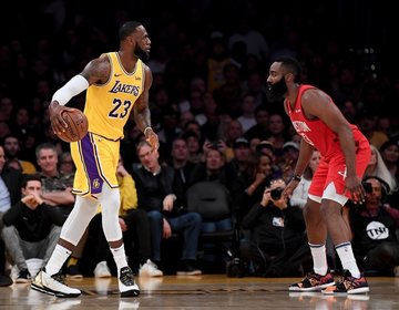 45e4f8830a2 LeBron James and the Lakers rally past James Harden and his Rockets side