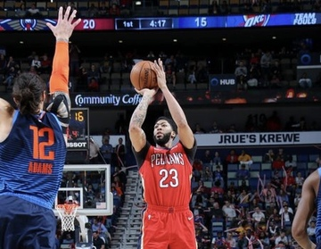 Pelicans Lose Davis But Cool Off Red Hot Thunder