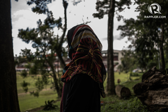 IDEAL DEATH. 'For me, dying as a mujahideen is the ideal death€,' says Sakeena, who thought of joining Maute-ISIS training, but was discouraged by her mother. Photo by Martin San Diego/Rappler