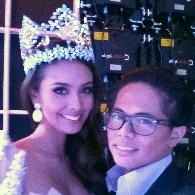 MISS WORLD 2013. Bessie is good friends with Megan Young
