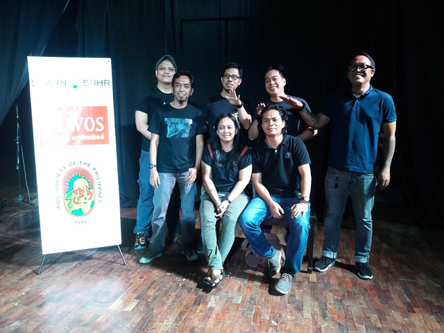 PANDAY PIRA. The visual artists: (Seated) Rica Reyes-dela Cruz, Boyet de Mesa. (Standing L-R) Michael Carranceja, Benhur Bobis, Randy Valiente, Michael Beltran and Jof Nachor. Photo by Diana Mendoza