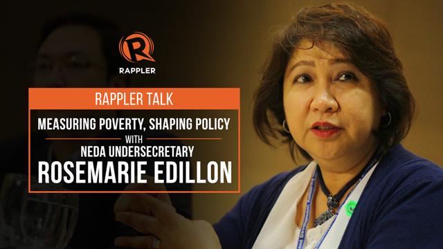 Rappler Talk: Measuring poverty, shaping policy with NEDA's Edillon
