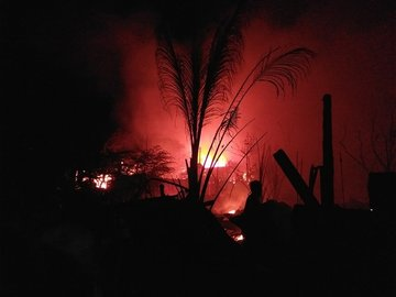 Fire hits residential area in Cebu on Christmas Eve