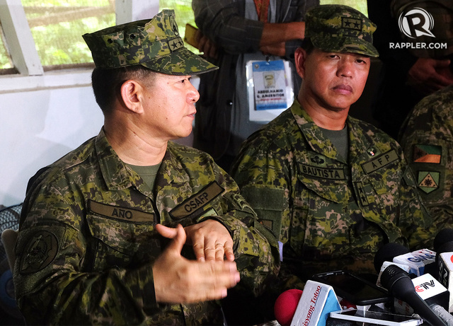 CONTINUED OPERATIONS. The AFP said it will hunt down other terror groups following the operation that killed top leaders behind the Marawi siege. Photo by Bobby Lagsa/Rappler