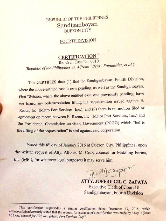 Ictsi S Razon Gets Subpoena Over Estafa Complaint